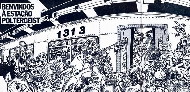 """Tirinha da exposição """"Cidade em tiras: os quadrinhos e as cidades no Brasil"""" - Divulgação"""