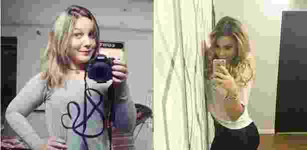 """Maria Claudia perdeu 10kg, colocou 295ml de silicone nos seios e fez lipoaspiração nos braços e abdômen: """"Sempre desejei essa mudança"""" - Reprodução/Montagem UOl"""