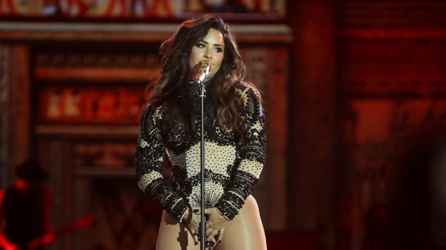 Demi Lovato canta para os fãs brasileiros em show no Festival Villa Mix, em Goiânia  - Manuela Scarpa/Brazil News