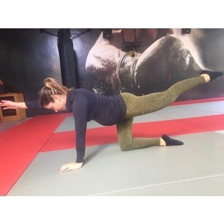Patrícia Abravanel em aula de yoga - Reprodução/Instagram