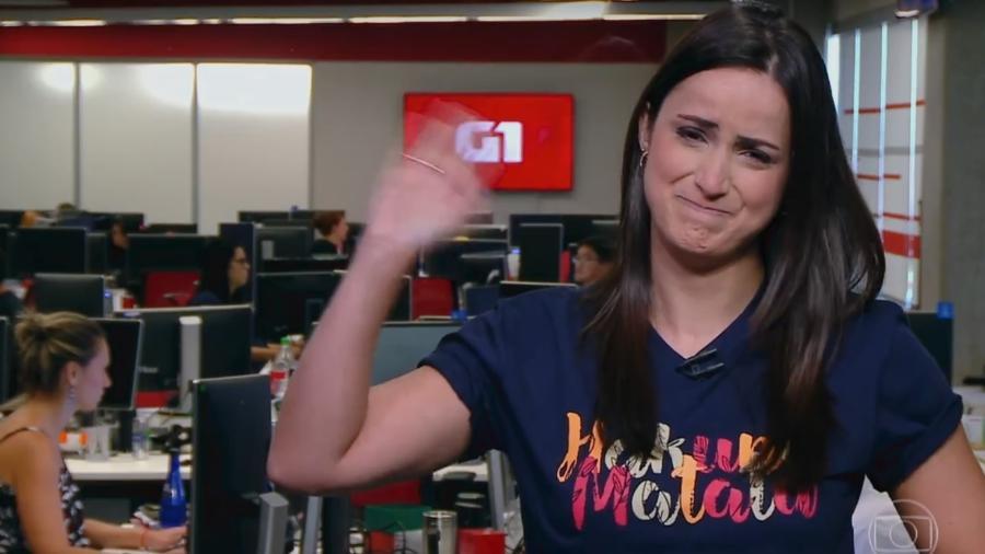 """Mari Palma se emociona na sua despedida do """"Bem Estar"""" - Reprodução/TV Globo"""