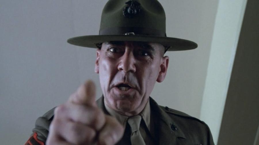 """Ermey impressionou como o Sargento General Hartman """"Em Nascido para Matar"""", clássico de Stanley Kubrick, de 1987 - Divulgação"""
