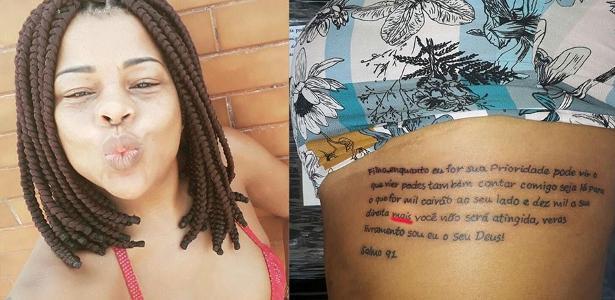 Tati Quebra Barraco faz tatuagem com erro de português