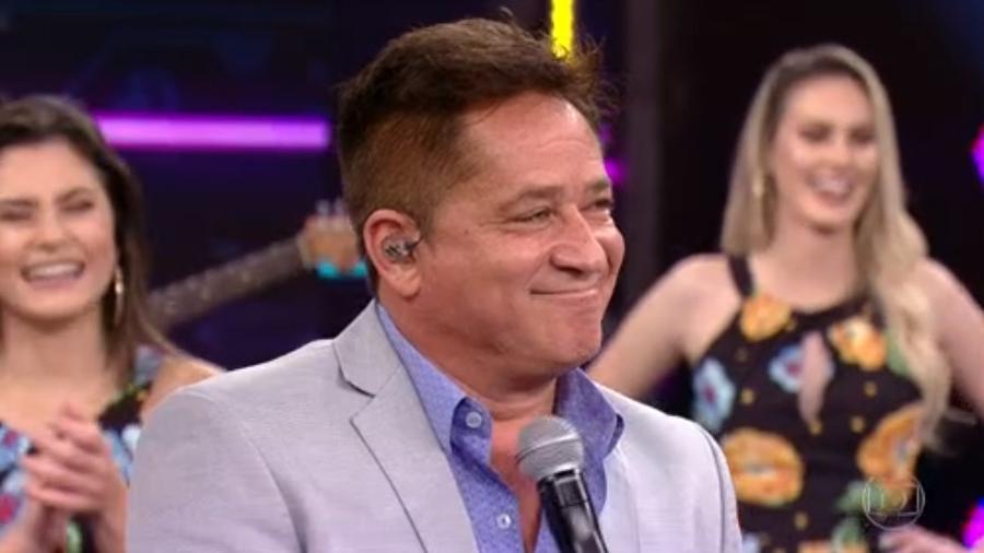 """Faustão pede Leonardo para cantar Roberto Carlos: """"Não sei cantar essa porr*, não"""" - Reprodução/TV Globo"""