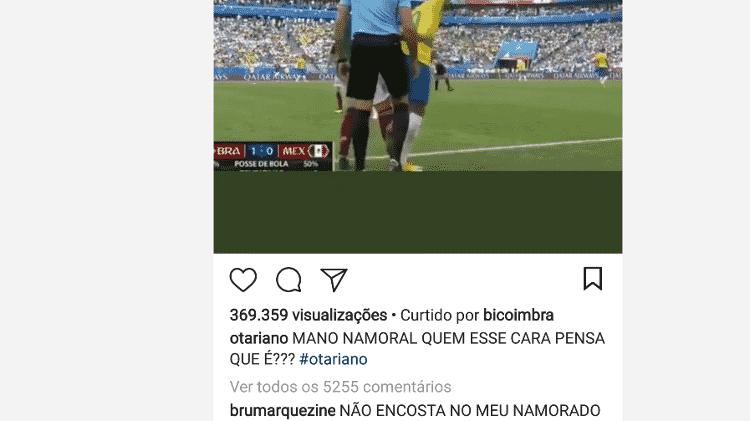 Bruna Marquezine comenta lance em que Neymar leva pisão - Reprodução/Instagram - Reprodução/Instagram