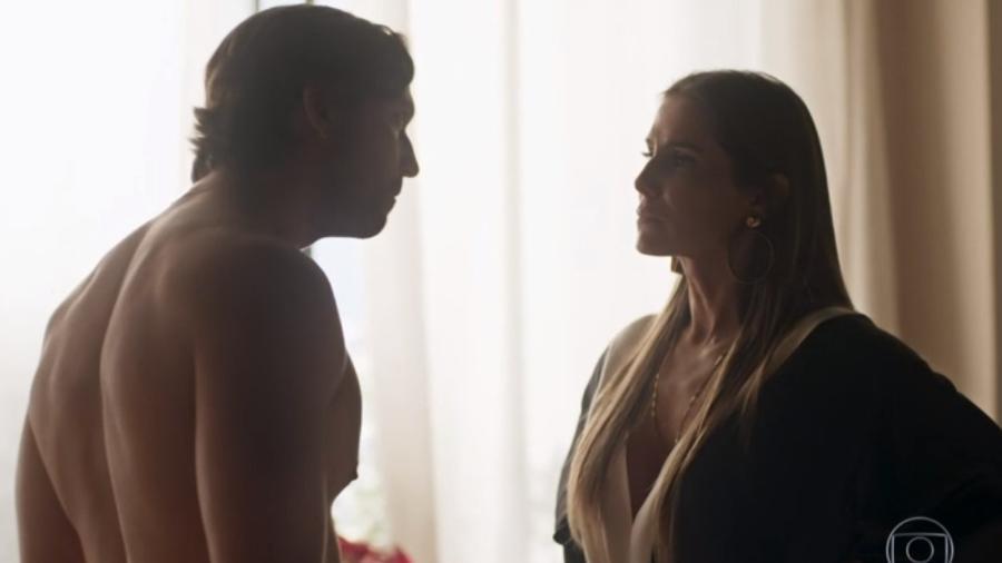 """Vladimir Brichta e Deborah Secco em cena em """"Segundo Sol"""" - Reprodução/Globo"""