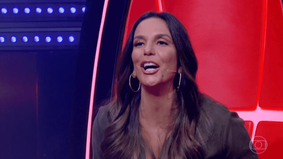 """Ivete Sangalo brinca com candidato no """"The Voice Brasil"""" - Reprodução/TV Globo"""