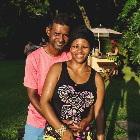 Deize Tigrona com o marido, Rafel - Acervo pessoal