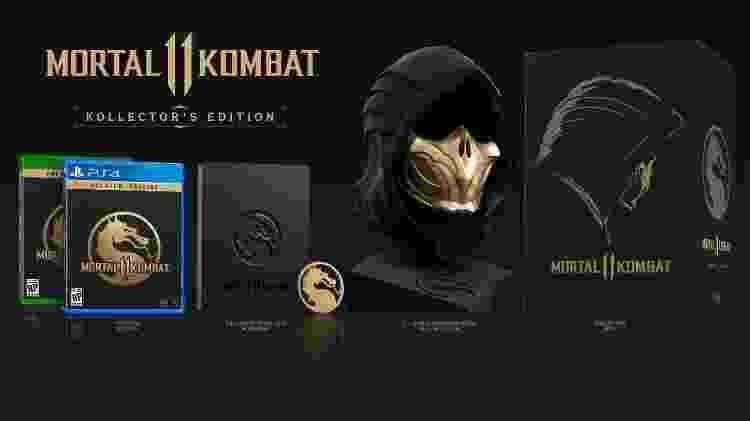 """A edição de colecionador de """"Mortal Kombat 11"""" - Divulgação"""