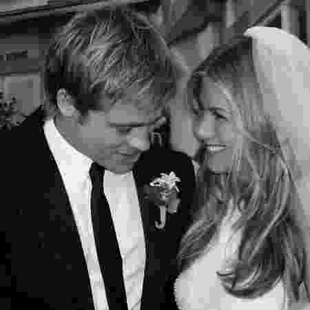 Casamento de Jennifer Aniston e Brad Pitt, que ficaram juntos de 2000 a 2005 - Reprodução/People