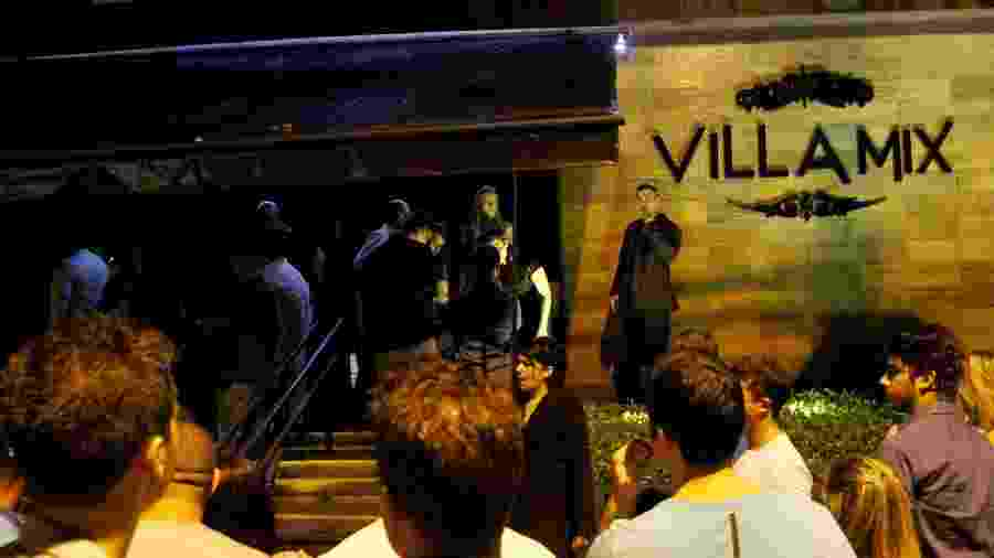 Entrada da casa noturna Villa Mix, na Vila Olímpia, que deixou de usar o nome após caso de agressão - Edson Lopes Jr./Folhapress