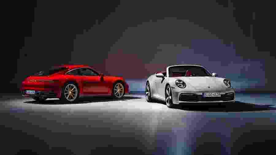 Porsche 911 Carrera Coupé e Cabroilet - Divulgação/Porsche