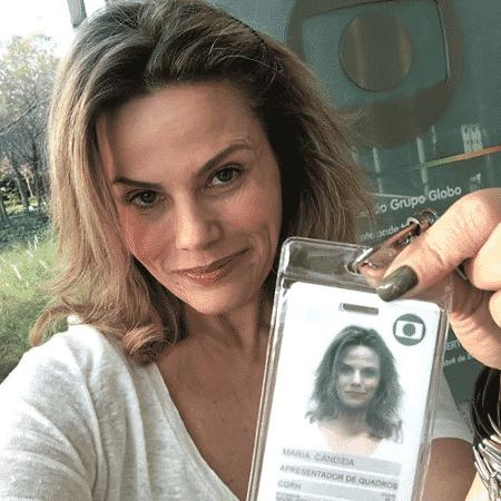 Maria Cândida publica foto de seu novo crachá na TV Globo, para onde voltou após 22 anos em um quadro no programa É de Casa - Reprodução/Instagram