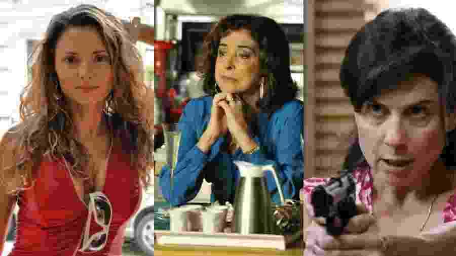 Rita Guedes, Betty Faria e Ângela Dip estão entre as atrizes que passaram por Avenida Brasil - Divulgação/Globo/Renato Rocha Miranda/Globo/Reprodução/Globo
