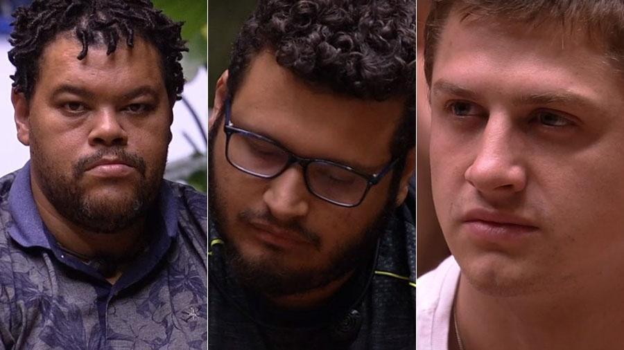 Babu, Victor Hugo e Lucas estão no paredão - Reprodução/TV Globo