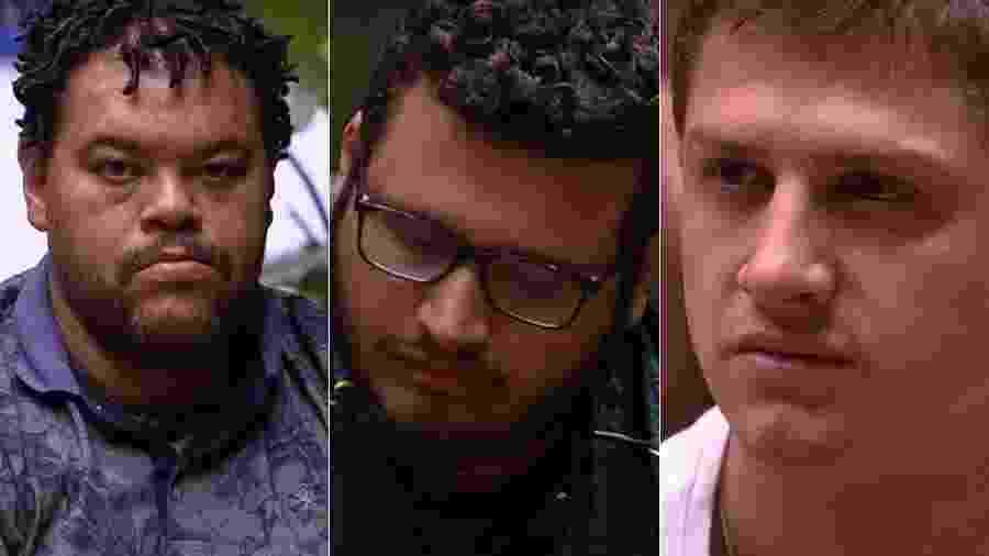 Babu, Victor Hugo e Lucas estão no paredão do BBB 20 - Reprodução/TV Globo