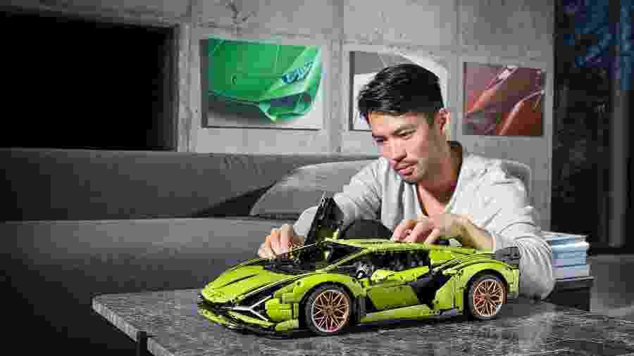 Miniatura Lamborghini Sián FKP 37 da Lego - Divulgação
