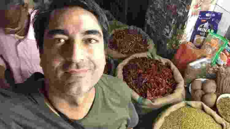 No mercado de pimentas, em Nova Déli (Índia) - Arquivo pessoal - Arquivo pessoal