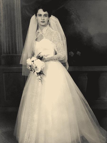 Avó de Rebecca em seu casamento - Arquivo Pessoal - Arquivo Pessoal