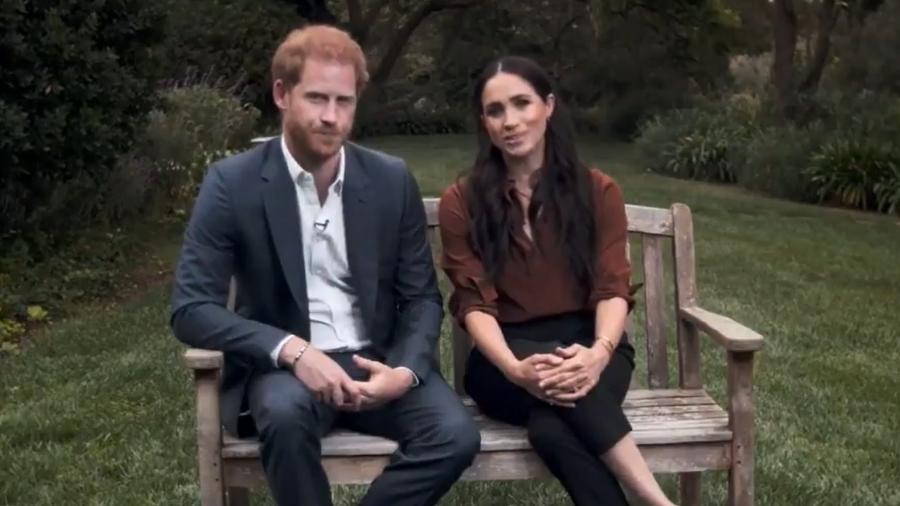 Apoiadores da realeza britânica pedem a remoção dos títulos de Harry e Meghan após polêmicas - Reprodução/Twitter
