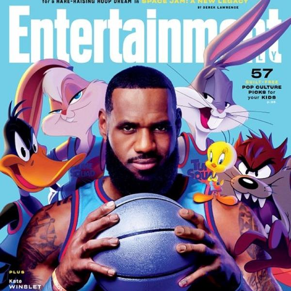 LeBron James e a turma do Looney Tunes em capa da Entertainment Weekly