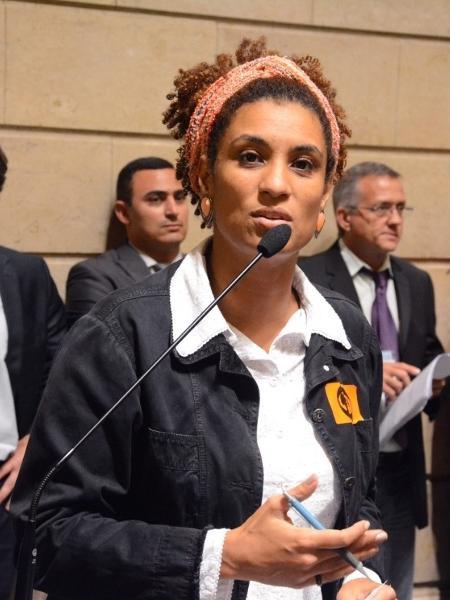 Marielle Franco durante sessão na Câmara do Rio - Arquivo/Câmara do Rio