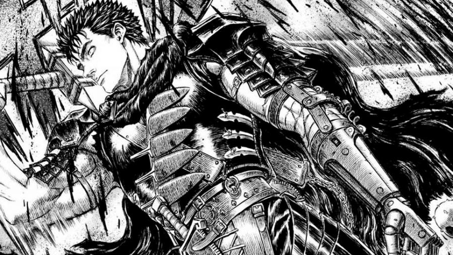 """O protagonista de """"Berserk"""", em desenho de Kentaro Miura - Reprodução"""