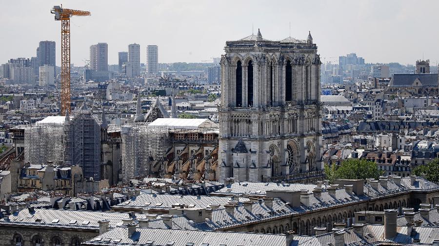 Catedral de Notre Dame em reconstrução - Chesnot/Getty Images