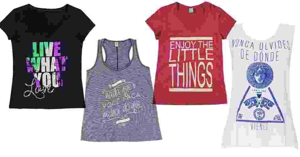Camisetas com mensagens positivas - Divulgação