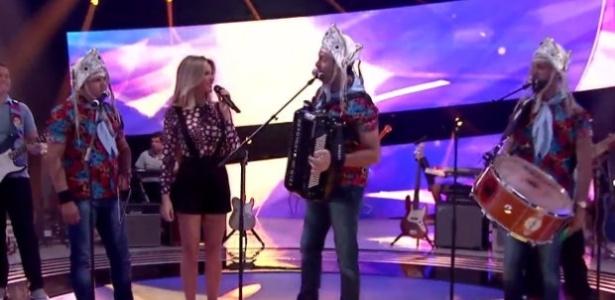 """A banda Fulô de Mandacaru foi a primeira a se apresentar no """"Superstar""""  - Reprodução/TV Globo"""