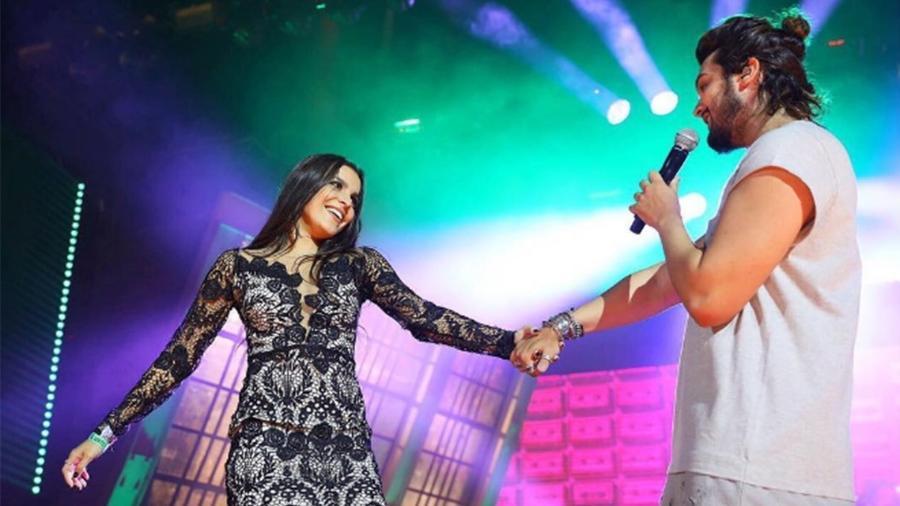 Emilly sobe no palco em show de Luan Santana - Reprodução/Instagram