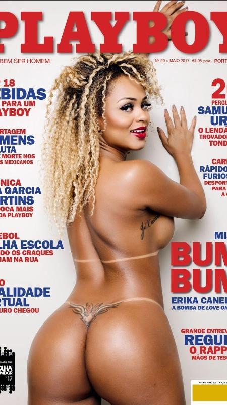 """Erika Canella é capa da revista """"Playboy"""" de Portugal  - Divulgação"""