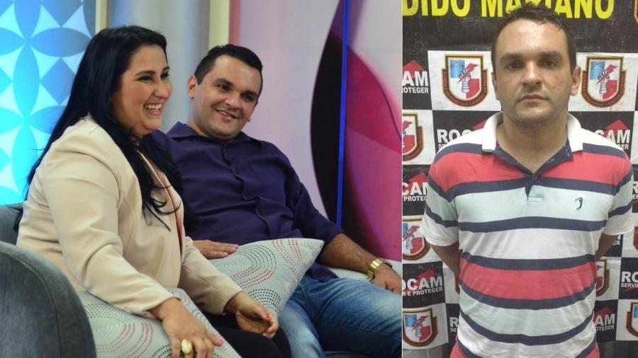 Pedro Paulo Militão da Silva, ex-marido de Fabíola Gadelha, foi preso por tráfico de drogas em Manaus - Montagem/UOL