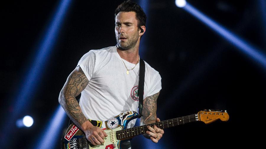O Maroon 5 fez no sábado o show oficial deles no Rock in Rio, depois de substituir Lady Gaga na sexta-feira - Bruna Prado/UOL