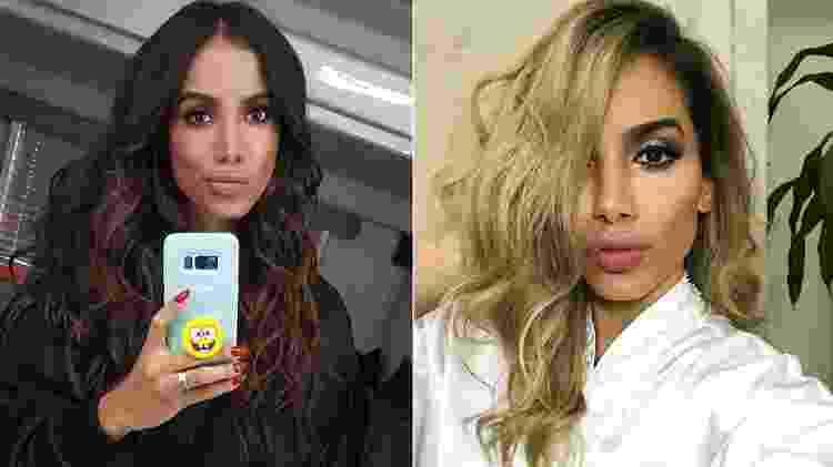 Anitta antes e depois da última transformação capilar - Reprodução/Instagram - Reprodução/Instagram