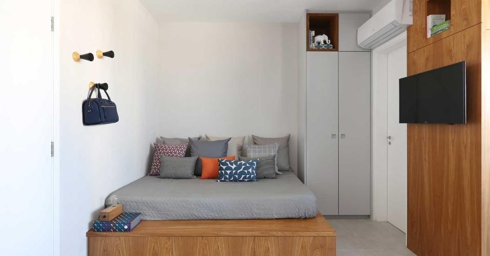 Um apartamento de 29 m² para encaixar sala de estar, jantar, cozinha e um quarto