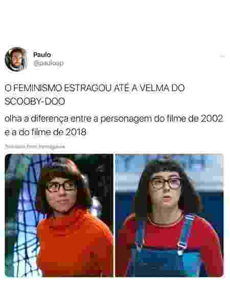 Velma polêmica - Reprodução Twitter - Reprodução Twitter