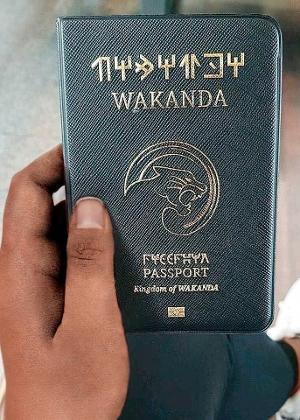 Capa de passaporte inspirado no reino de Wakanda