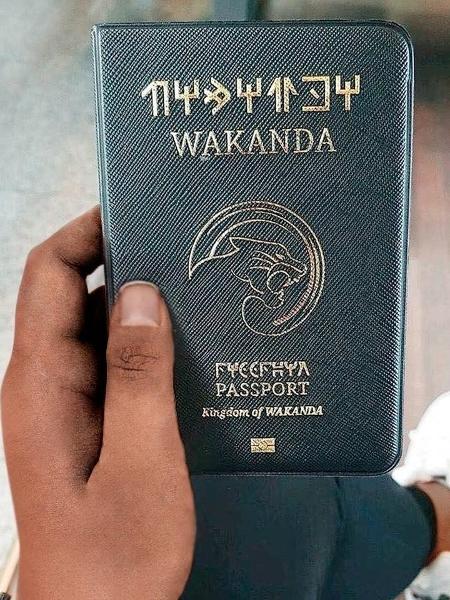 Capa de passaporte inspirado no reino de Wakanda - Reprodução/Oh Fox Stuff