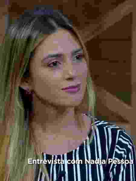 Nadja Pessoa conversa com Marcos Mion após expulsão do programa - Reprodução/PlayPlus