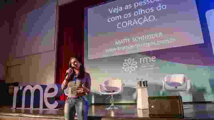 Maite Schneider participa do evento Womenwill, promovido pelo Google: capacitação para trans foi a primeira da empresa em todo o mundo - Divulgação - Divulgação