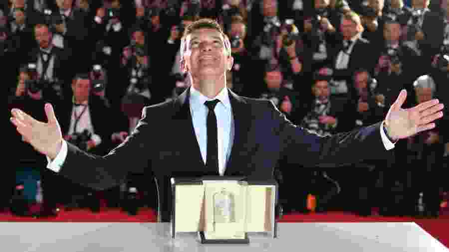 O ator Antonio Banderas vence prêmio em Cannes - Alberto Pizzoli/AFP