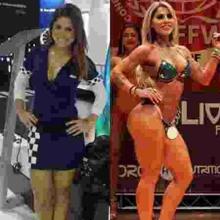 O antes e o depois de Vanessa Mesquita - Reprodução/ Instagram