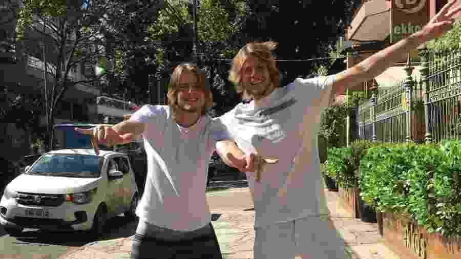 Os gêmeos Daniel e Tadeu Lenhardt antes da entrada de Daniel no BBB 20 - Reprodução/Instagram