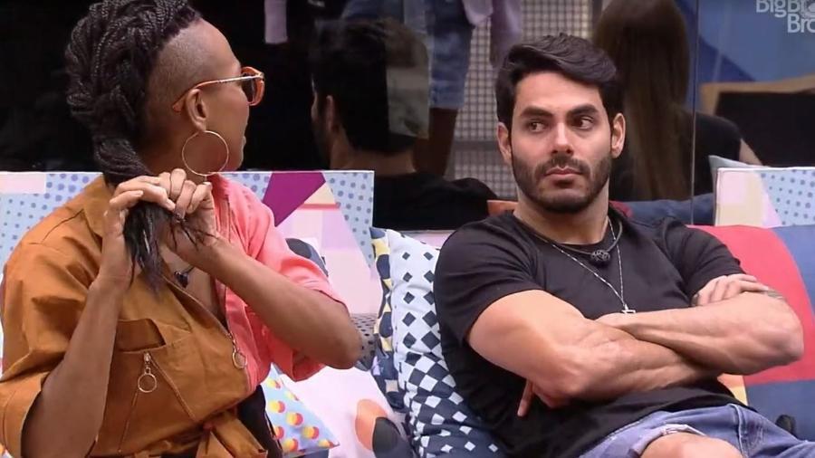 BBB21: Karol Conká conversa com Rodolffo - Reprodução/ Globoplay