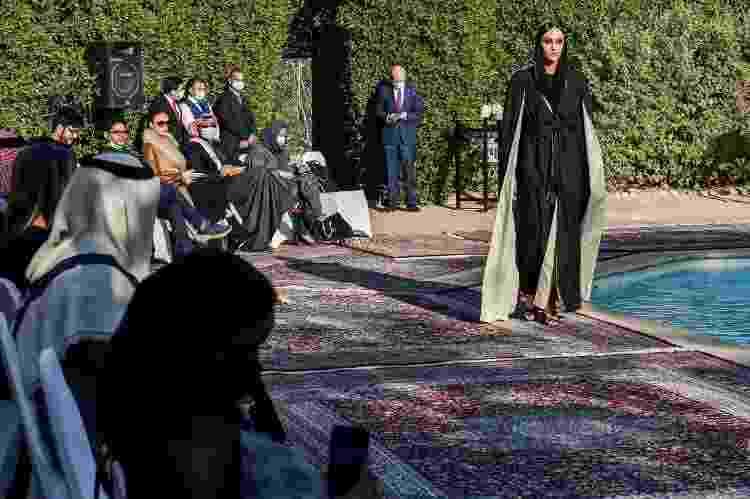 Desfile de moda na Arábia Saudita, com um público misto, em 23 de janeiro de 2021, em Riad - AFP - AFP