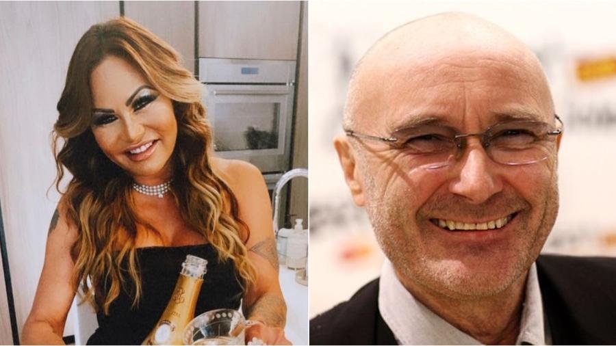 OrianneCevey e Phil Collins enfrentam batalha jurídica pelo divórcio - Reprodução/Instagram