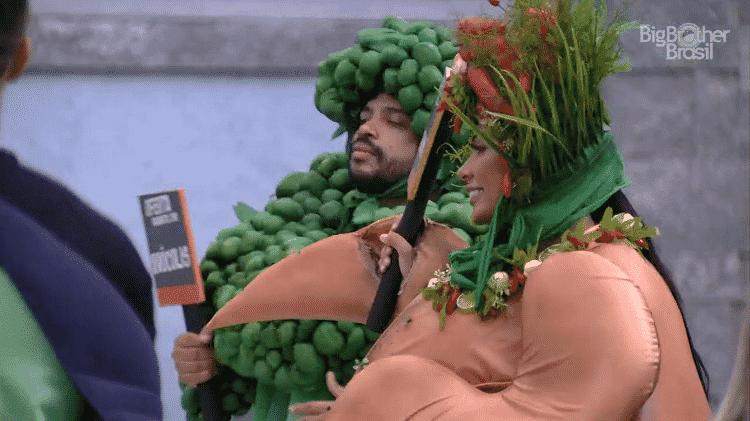 BBB 21: POcah e Projota cumprem castigo do monstro - Reprodução/Globoplay - Reprodução/Globoplay