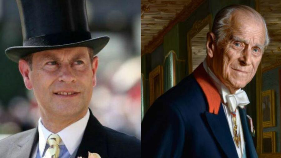 Príncipe Edward e Príncipe Philip - Reprodução/Divulgação