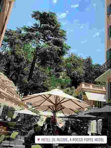 João Guilherme fica em hotel de luxo na Itália - Reprodução - Reprodução